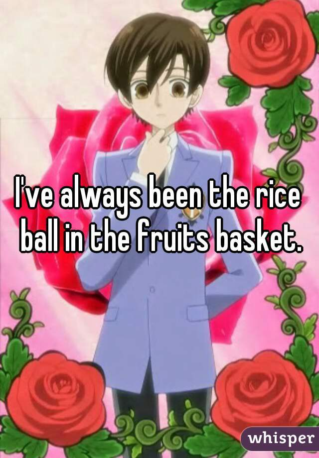 I've always been the rice ball in the fruits basket.