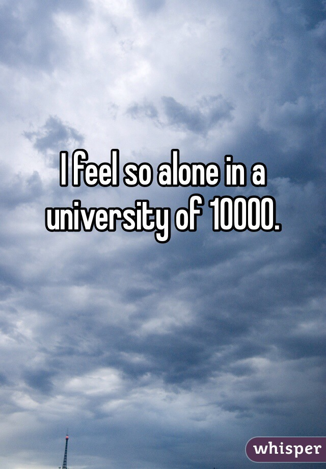 I feel so alone in a university of 10000.