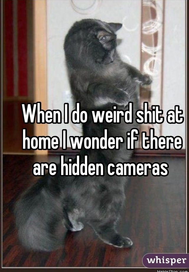 When I do weird shit at home I wonder if there are hidden cameras