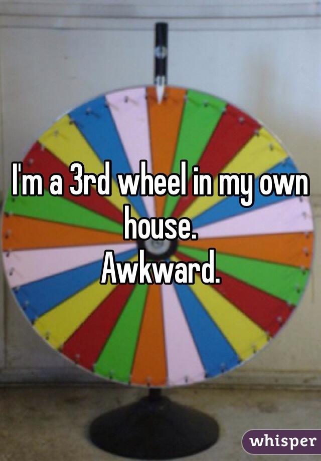 I'm a 3rd wheel in my own house.  Awkward.