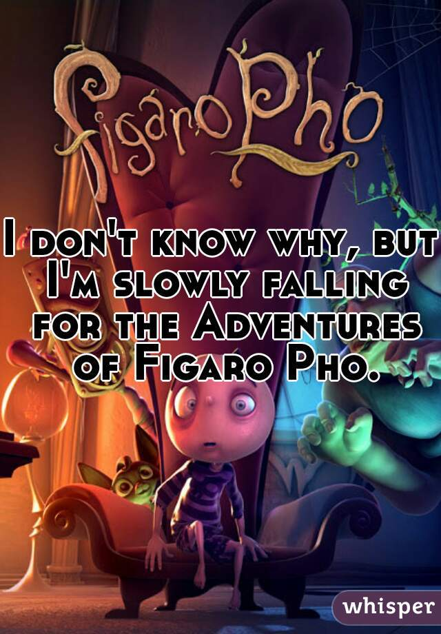 I don't know why, but I'm slowly falling for the Adventures of Figaro Pho.