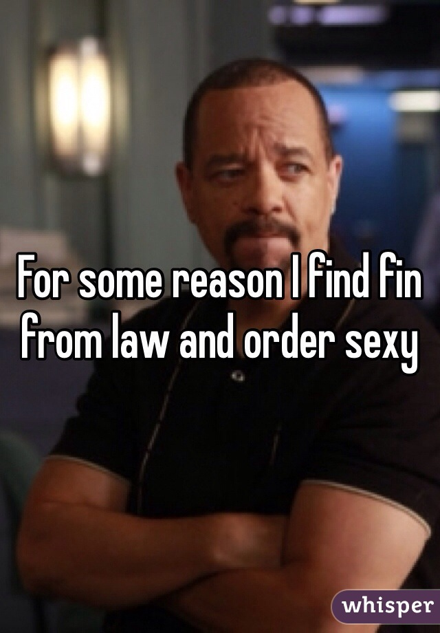 For some reason I find fin from law and order sexy