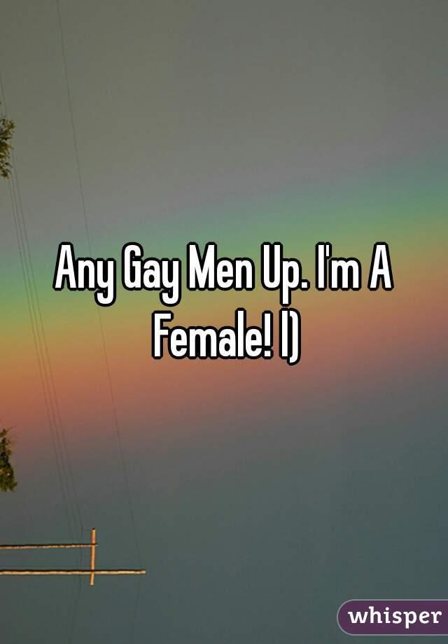 Any Gay Men Up. I'm A Female! l)