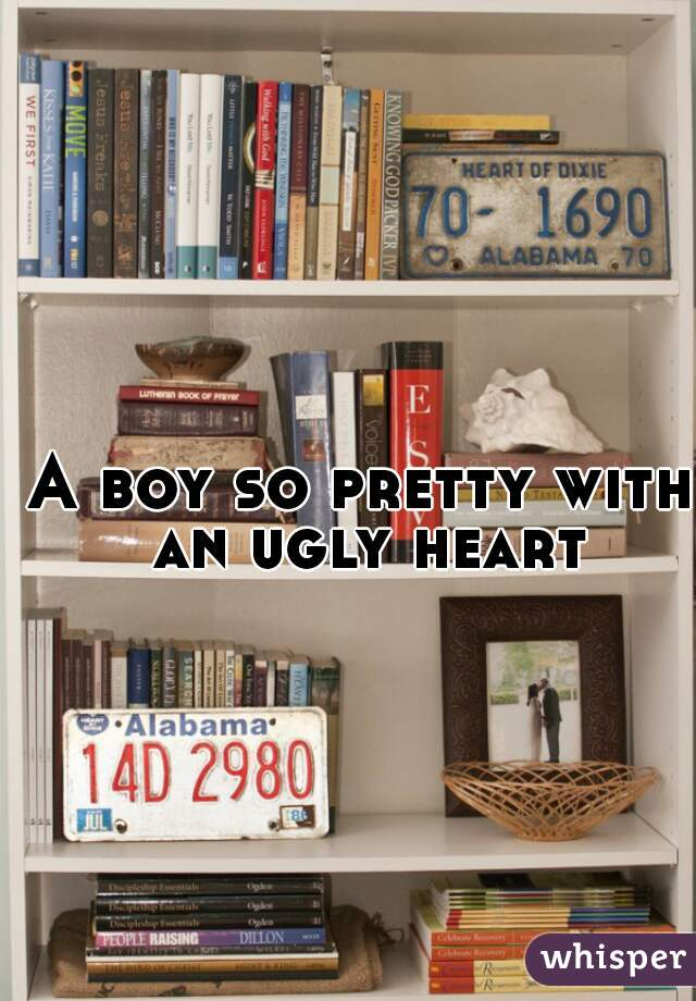 A boy so pretty with an ugly heart