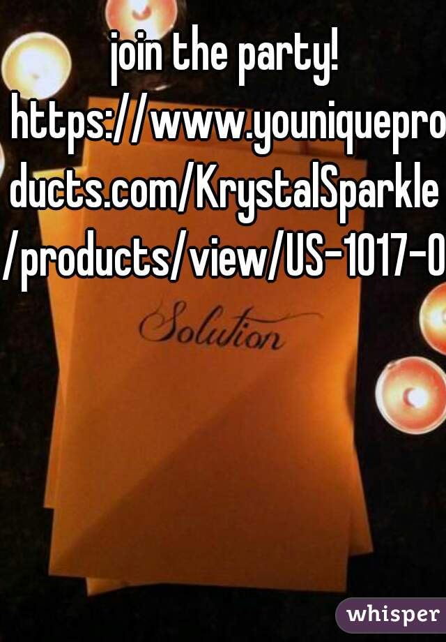 join the party! https://www.youniqueproducts.com/KrystalSparkle/products/view/US-1017-00