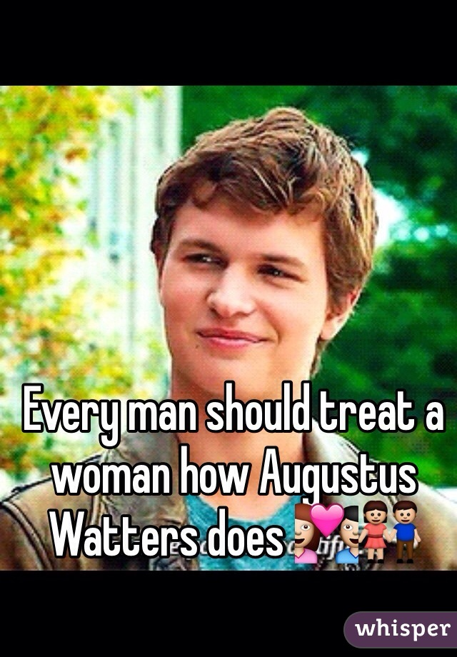Every man should treat a woman how Augustus Watters does 💑👫