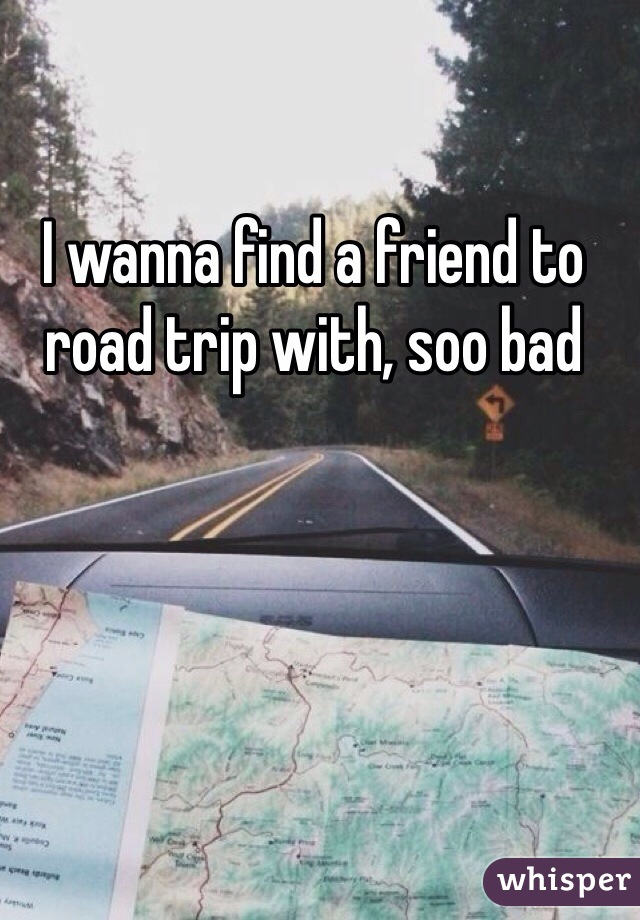 I wanna find a friend to road trip with, soo bad