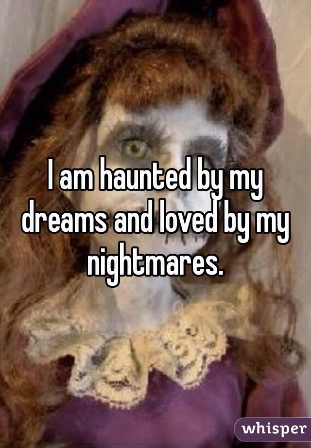 I am haunted by my dreams and loved by my nightmares.