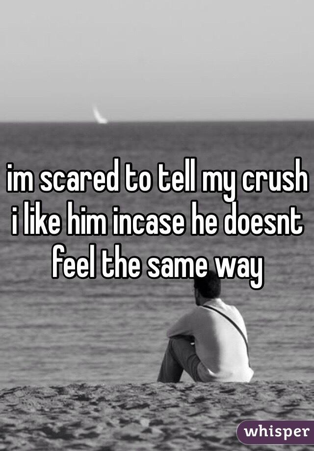 im scared to tell my crush i like him incase he doesnt feel the same way