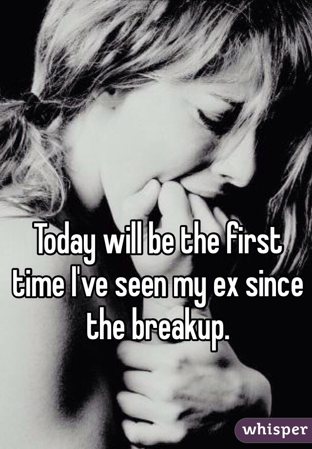 Today will be the first time I've seen my ex since the breakup.