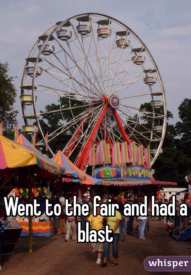 Went to the fair and had a blast