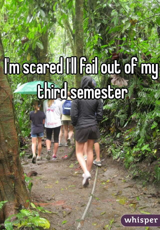 I'm scared I'll fail out of my third semester