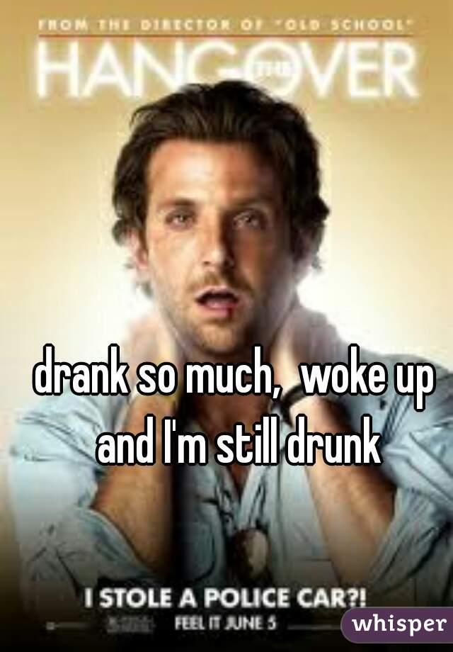 drank so much,  woke up and I'm still drunk