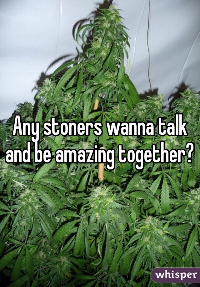 Any stoners wanna talk and be amazing together?