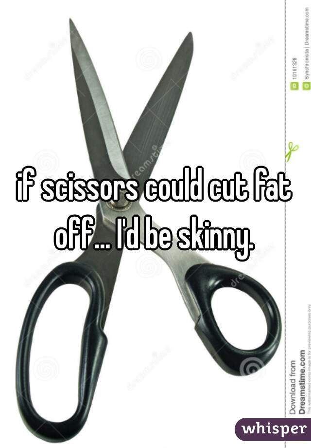 if scissors could cut fat off... I'd be skinny.