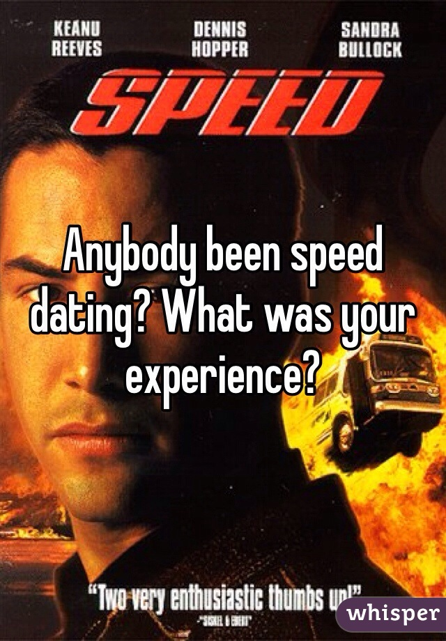 Anybody been speed dating? What was your experience?