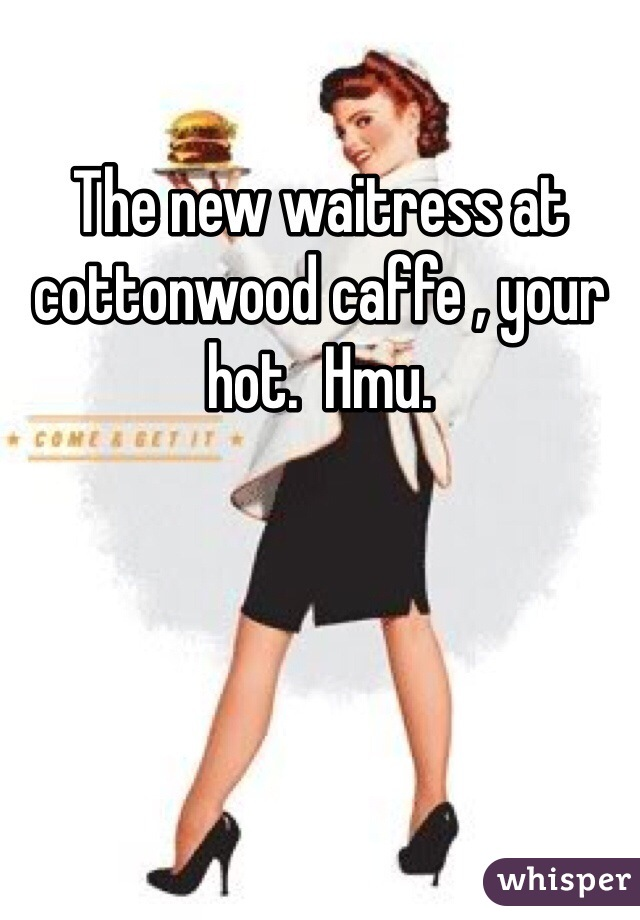 The new waitress at cottonwood caffe , your hot.  Hmu.