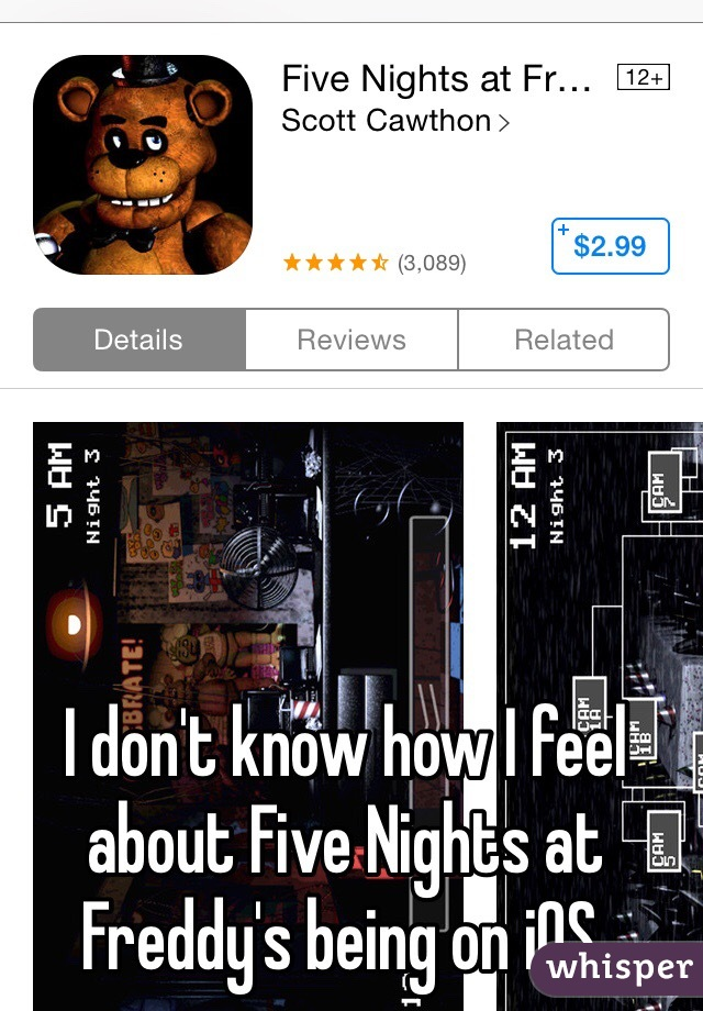 I don't know how I feel about Five Nights at Freddy's being on iOS.