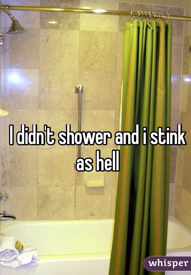 I didn't shower and i stink as hell