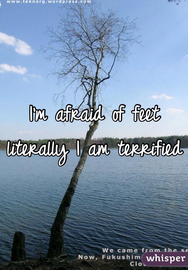 I'm afraid of feet literally I am terrified