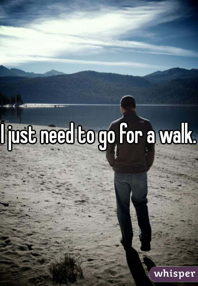 I just need to go for a walk.