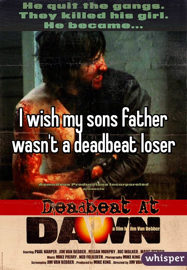 I wish my sons father wasn't a deadbeat loser