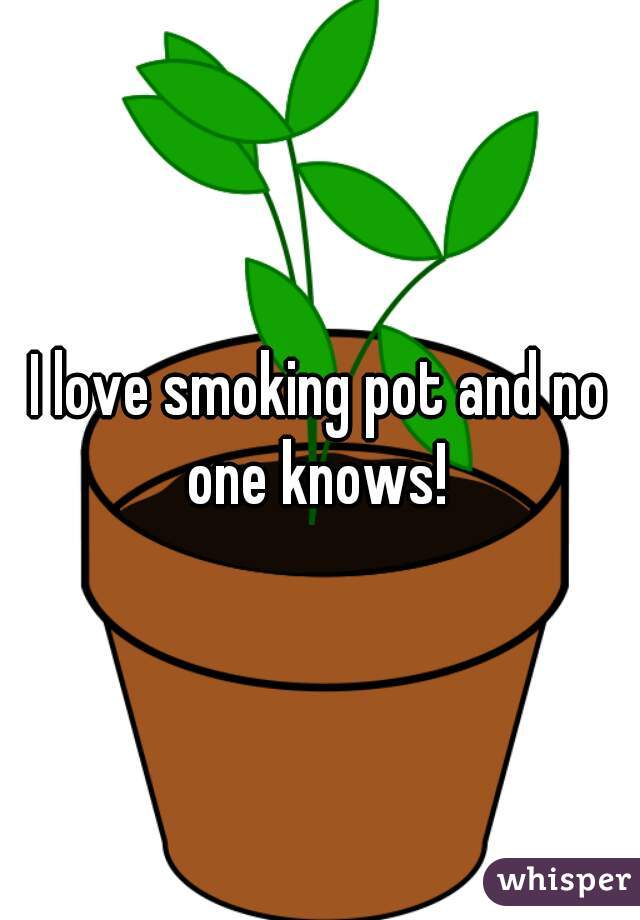 I love smoking pot and no one knows!
