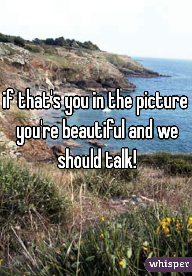 if that's you in the picture you're beautiful and we should talk!