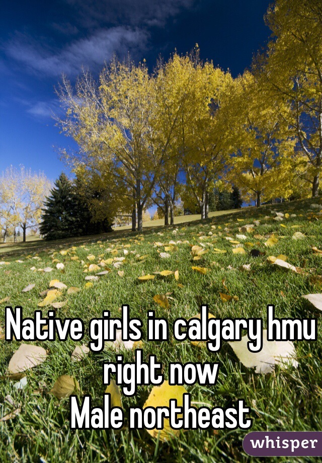 Native girls in calgary hmu right now  Male northeast