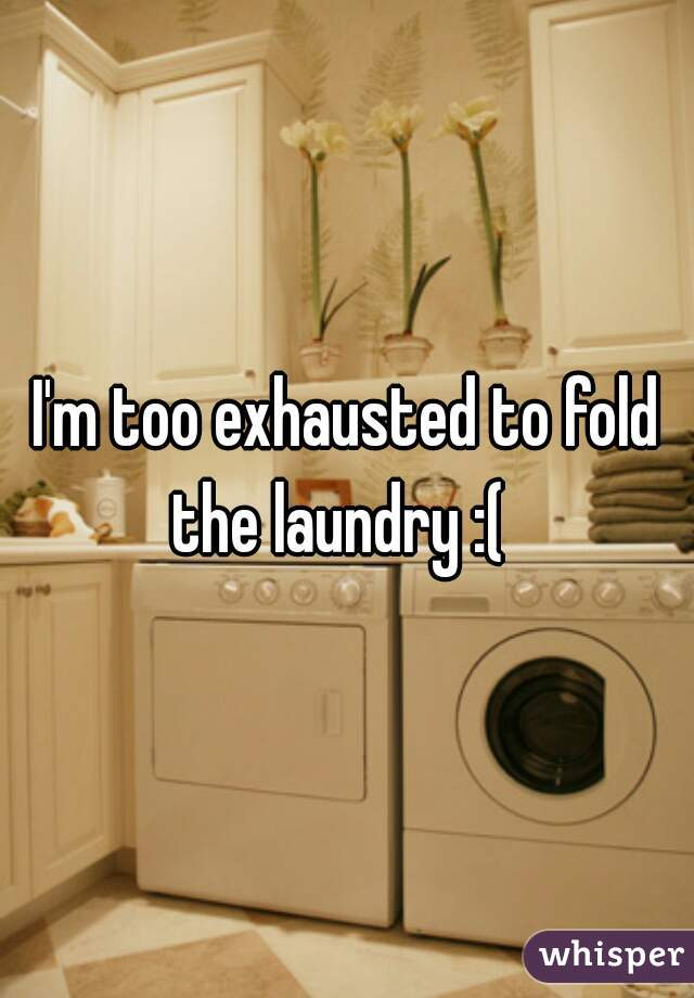 I'm too exhausted to fold the laundry :(