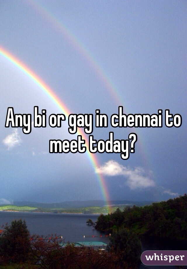 Any bi or gay in chennai to meet today?