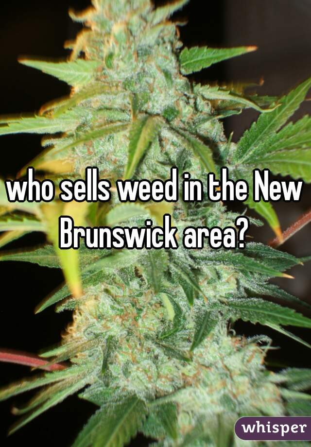 who sells weed in the New Brunswick area?