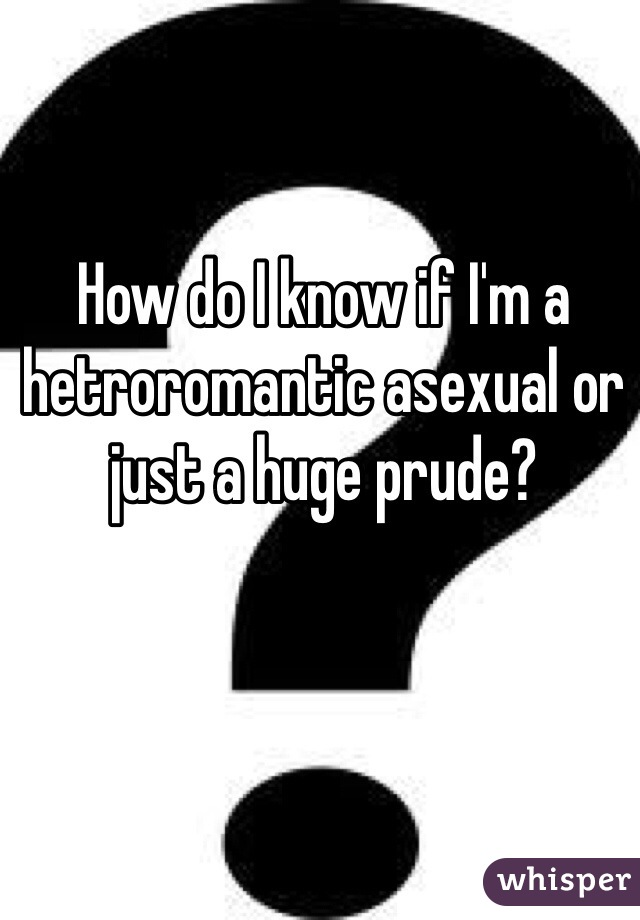 How do I know if I'm a hetroromantic asexual or just a huge prude?