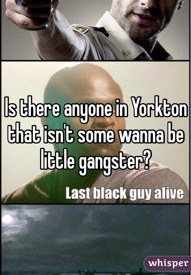 Is there anyone in Yorkton that isn't some wanna be little gangster?