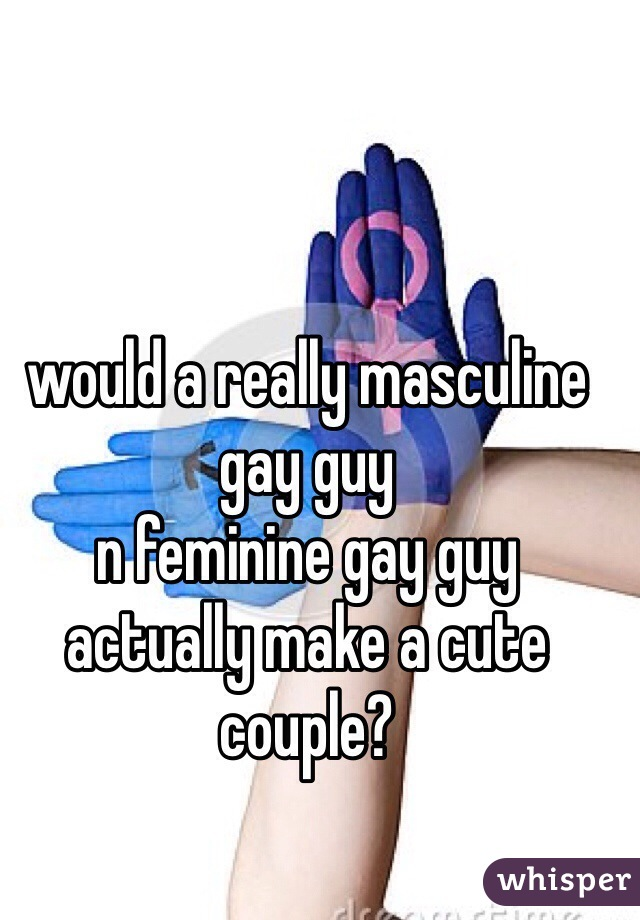 would a really masculine gay guy  n feminine gay guy  actually make a cute couple?