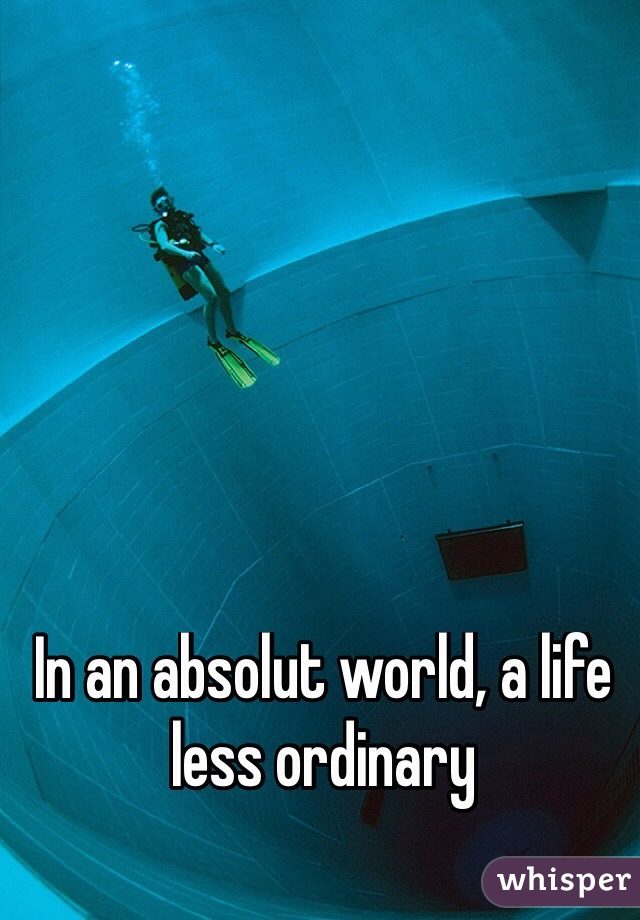 In an absolut world, a life less ordinary
