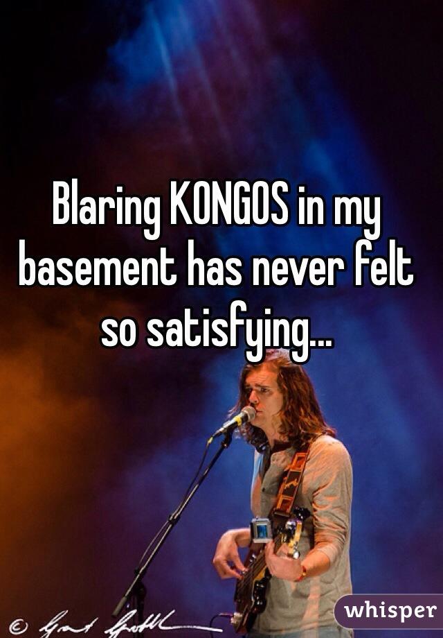 Blaring KONGOS in my basement has never felt so satisfying...
