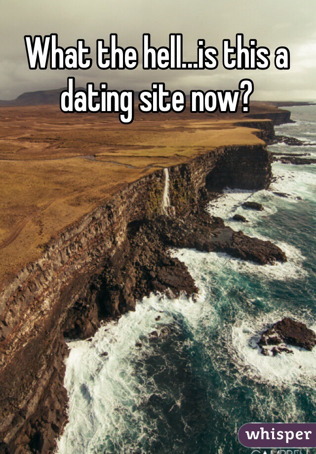 What the hell...is this a dating site now?