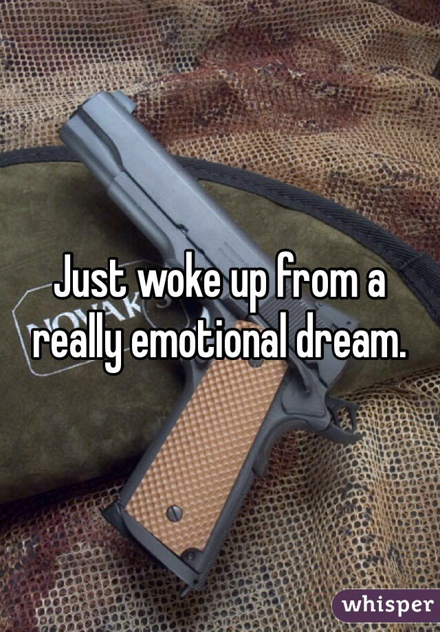 Just woke up from a really emotional dream.