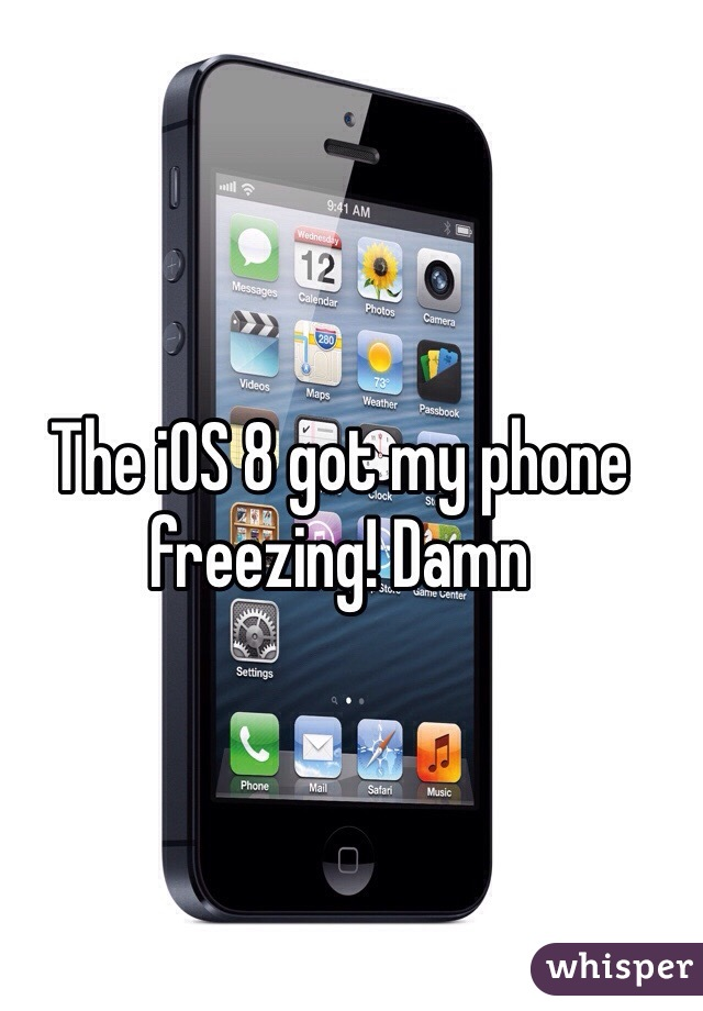 The iOS 8 got my phone freezing! Damn
