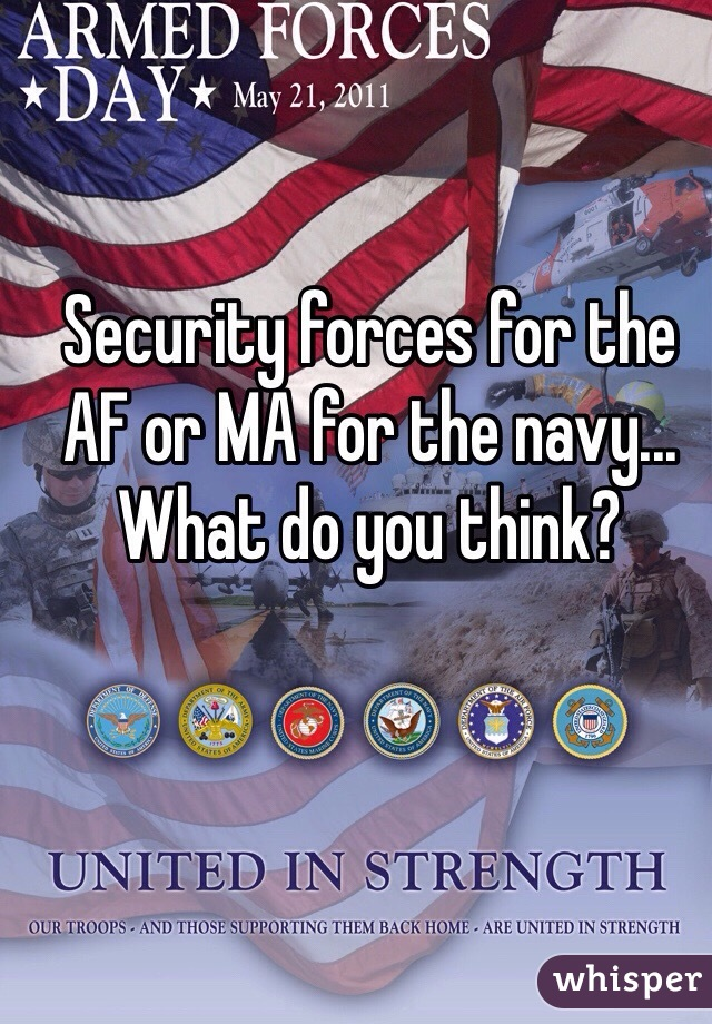 Security forces for the AF or MA for the navy... What do you think?