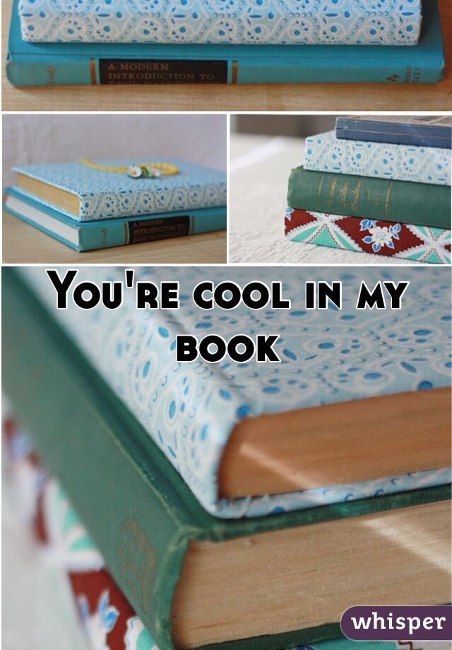 You're cool in my book
