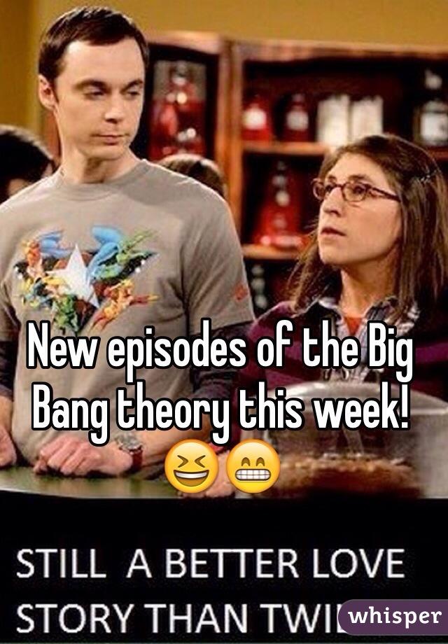 New episodes of the Big Bang theory this week! 😆😁