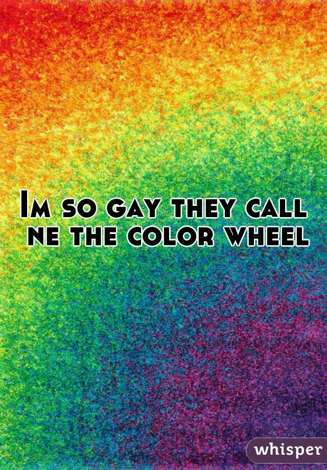 Im so gay they call ne the color wheel