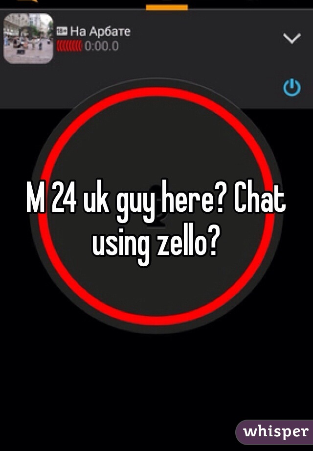 M 24 uk guy here? Chat using zello?