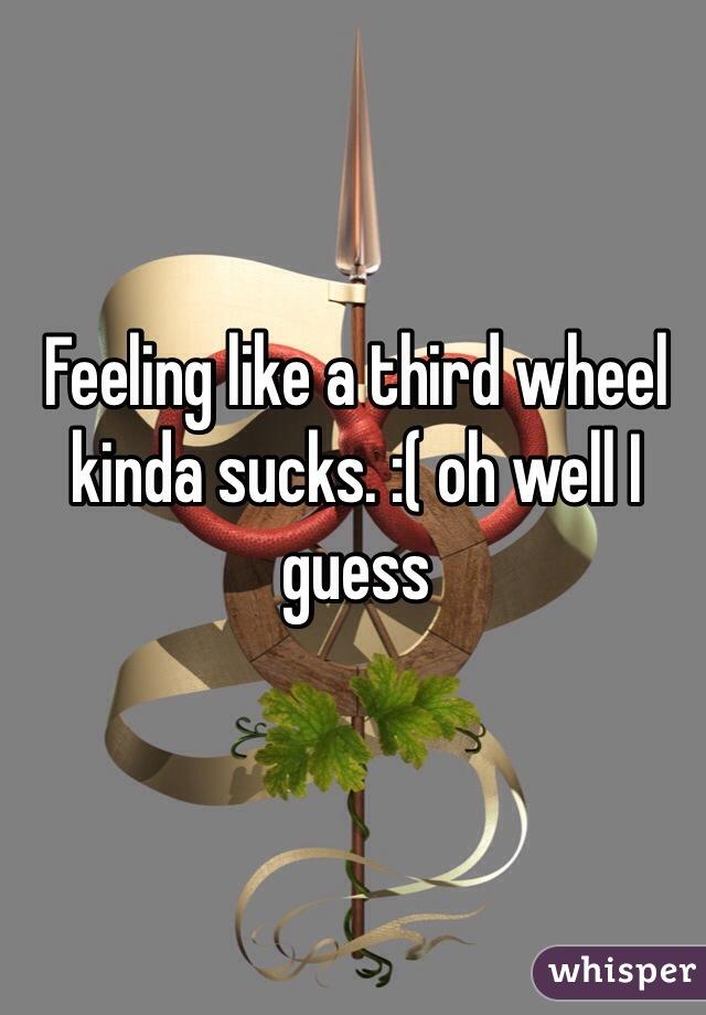 Feeling like a third wheel kinda sucks. :( oh well I guess