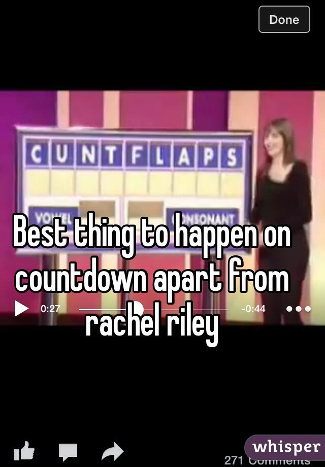 Best thing to happen on countdown apart from rachel riley