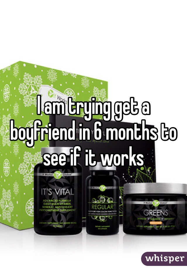 I am trying get a boyfriend in 6 months to see if it works