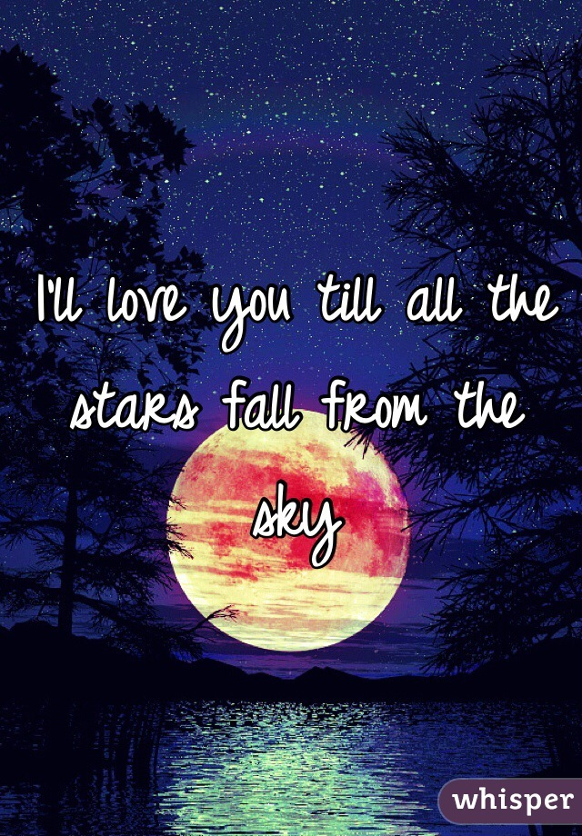 I'll love you till all the stars fall from the sky
