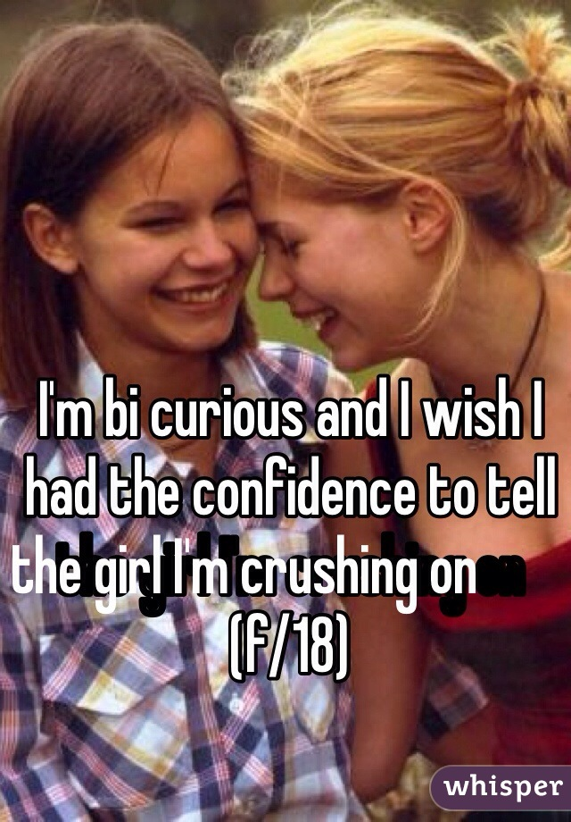 I'm bi curious and I wish I had the confidence to tell the girl I'm crushing on                        (f/18)